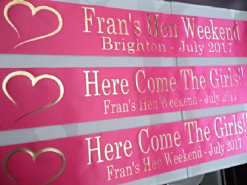 Hot Pink Hen Night Sashes